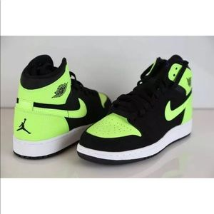 ghost green jordans. new.